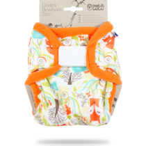 Cover Newborn (Velcro) Foxes – Petit Lulu